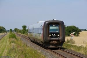 Regionstog (LJ) MF sæt 44 som 225046 (Nsk-Nf) mellem Ryde og Søllested - 05.08.2013