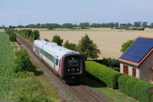 Regionstog (LJ) MF sæt 44 som 225054 (Nsk-Nf) mellem Grænge og Sakskøbing - 05.08.2013