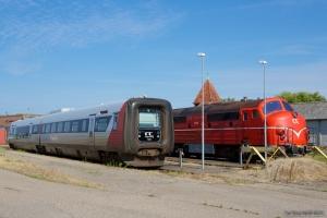 Regionstog (LJ) MF sæt 45 og M35 i Nakskov - 05.08.2013