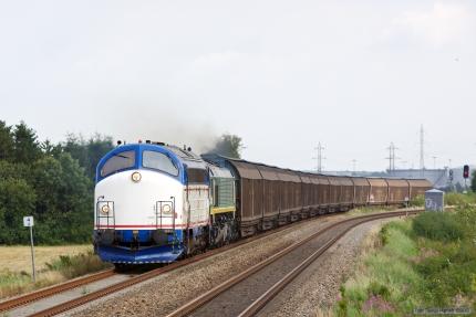 CFL MY 1146 og ASCENDOS RL001 med CG 7225 (Padborg - Herning) mellem Fredericia og Børkop - 02.09.2012