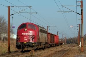 CFL Cargo MY 1154 med G 6613 (Rq-Pa) ved ankomst til Padborg - 31.03.2007