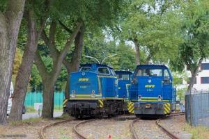 MWB V 1201, V 762 & V 761 ved Hamburg Waltershof (Bominflod) - 15.09.2012