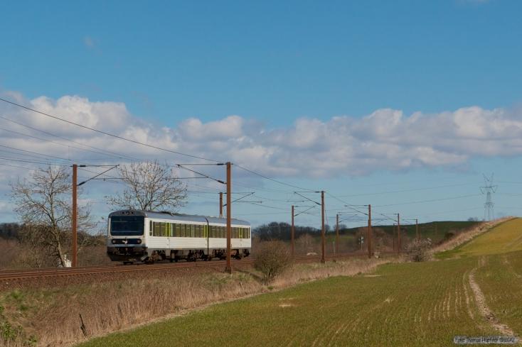 DSB MR/MRD sæt 13 som RV3639 (Fa-Kd) mellem Taulov og Kolding - 03.04.2007