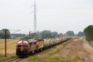 CFL Cargo MX 1023 og 1807 med CG 6219 (Tl-Pa) mellem Farris og Sommersted - 07.08.2014
