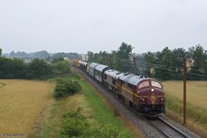 CFL MX 1023 + T66K 714 + Wiebe Lok 4 (ex. DB 212 107-7) som CG6102 (Herning - Padborg) mellem Sommersted og Vojens - 28.07.2012