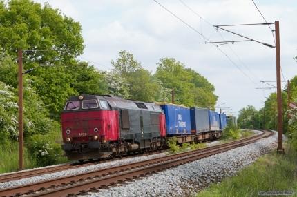 Railion DK MZ 1451 med G9273 (Htå-Tl) mellem Odense og Holmstrup - 12.05.2007