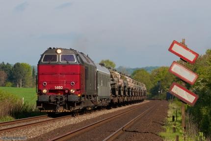 Railion DK MZ 1460 med G6714 (Hr-Pa) mellem Børkop og Fredericia - 06.05.2007