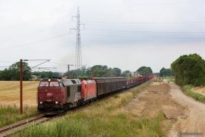 DB Schenker MZ 1449 og 185 323-0 med G 844783 (Fa-Pa) mellem Farris og Sommersted - 07.08.2014