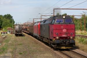 DB Schenker MZ 1452 og 185 323-0 med G 844783 (Fa-Pa) ved Vojens - 08.08.2014