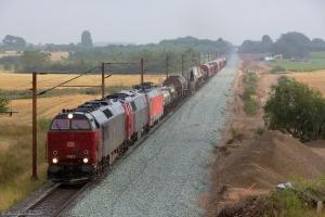 DB Schenker og NEG MZ 1439 og DB Schenker EG 3105 med GD 63276 (Pa-Mgb) mellem Sommersted og Vojens - 07.08.2014