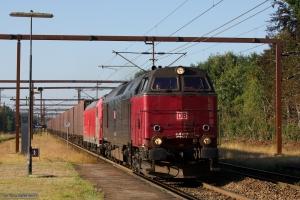 DB Schenker MZ 1457 og 185 332-2 med GX 63286 (Pa-Mgb) ved Tinglev - 08.08.2014