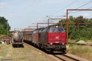DB Schenker MZ 1457 og EG 3104 med GD 63201 (Mgb-Pa) ved Vojens - 08.08.2014