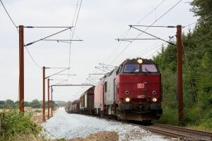 DB Schenker MZ 1457 og EG 3107 med GD 42749 (Mgb-Pa) mellem Sommersted og Vojens - 06.08.2014
