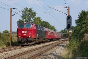 DSB MZ 1401 med B188, Bk 016, A 000 som VP 6345 (Od-Tp) mellem Holmstrup og Tommerup - 06.09.2014