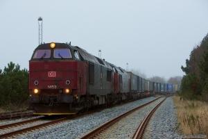 DB Schenker MZ 1453 og MZ 1459 med G6211 (Bm-Tdr) ved Tønder - 01.12.2012