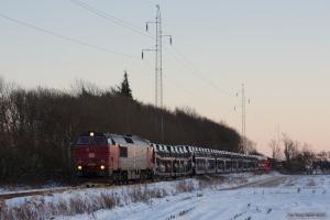 DB Schenker MZ 1449 med G6726 (Tdr-Es) mellem Visby og Tønder Industrispor Nord - 06.12.2012