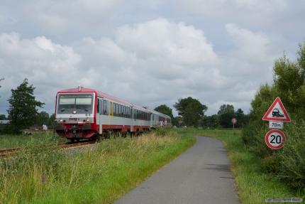NEG VT71 som NEG13 (Niebüll - Dagebüll Mole) mellem Niebüll og Dagebüll Mole Km 3 - 29.07.2012