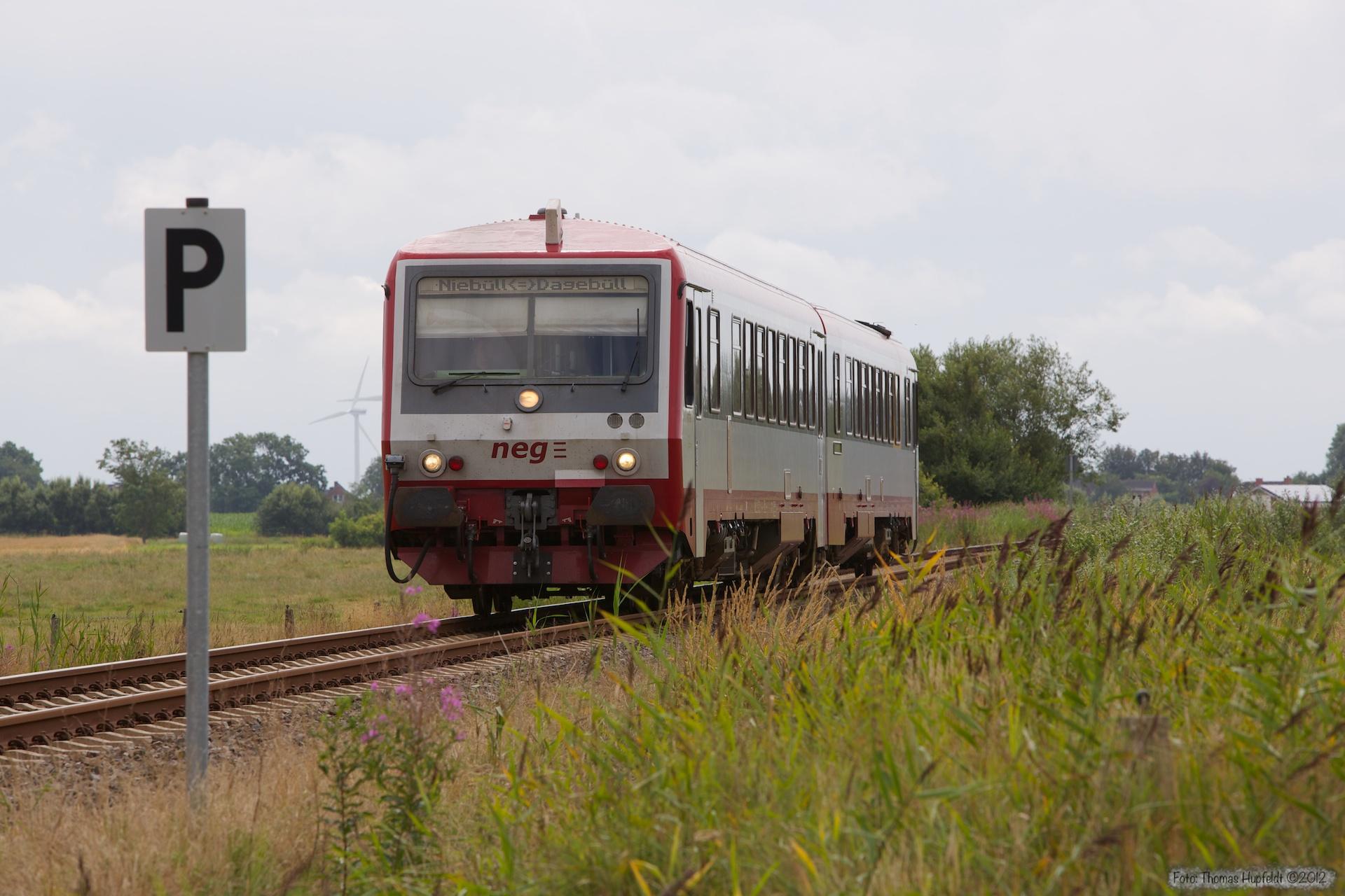 NEG VT71 som NEG10 (Dagebüll Mole - Niebüll) mellem Deezbüll og Maasbüul - 20.07.2012