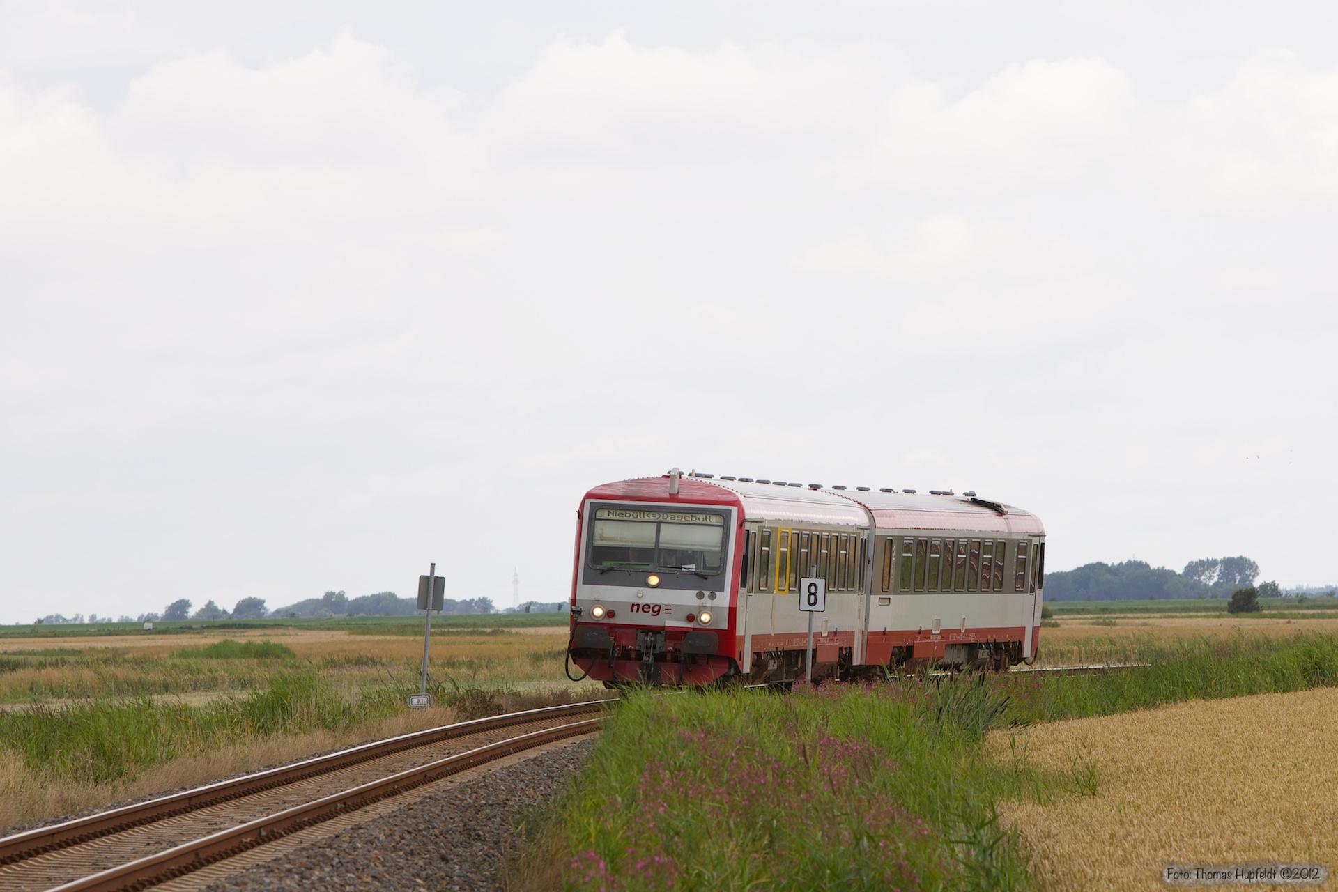 NEG VT71 som NEG15 (Niebüll - Dagebüll Mole) mellem Niebüll og Dagebüll Mole Km 8,3 - 29.07.2012