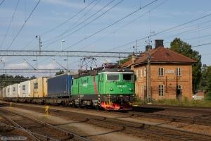 GC Rc4 1276 med GT 14433 (Tomteboda-Helsingborg G) ved Boxholm - 26.08.2011