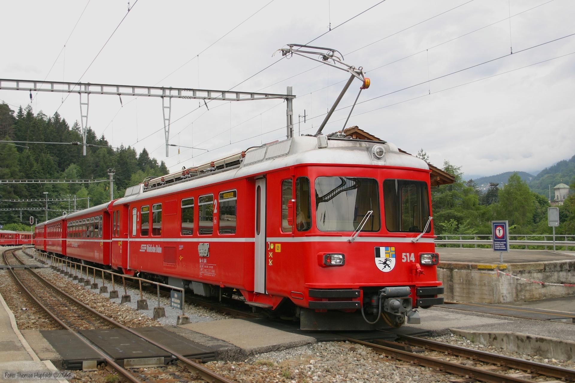 RhB Be 514+2vg+StVg ved Reichenau Tamins - 22.06.2004