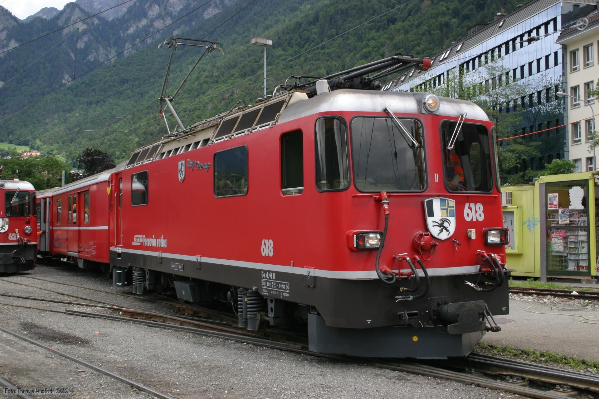 RhB Ge 4/4 II 618 ved Chur - 22.06.2004