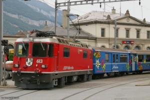 RhB Ge 4/4 II 613 ved Chur 22.06.2004