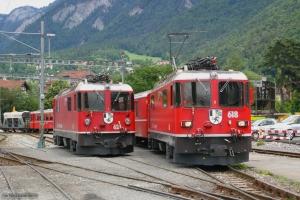 RhB Ge 4/4 II 618 og Ge 4/4 II 624 ved Chur 22.06.2004
