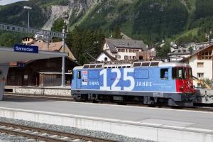RhB Ge 4/4 II 623 ved Samedan - 16.08.2014