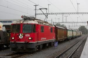RhB Ge 4/4 II 626 med 7 vogne ved Untervaz-Trimmis - 13.08.2014