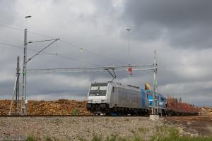 TXL 185 671-5 + STAB TMX 1042 ved Stockaryd Terminalen - 09.06.2012
