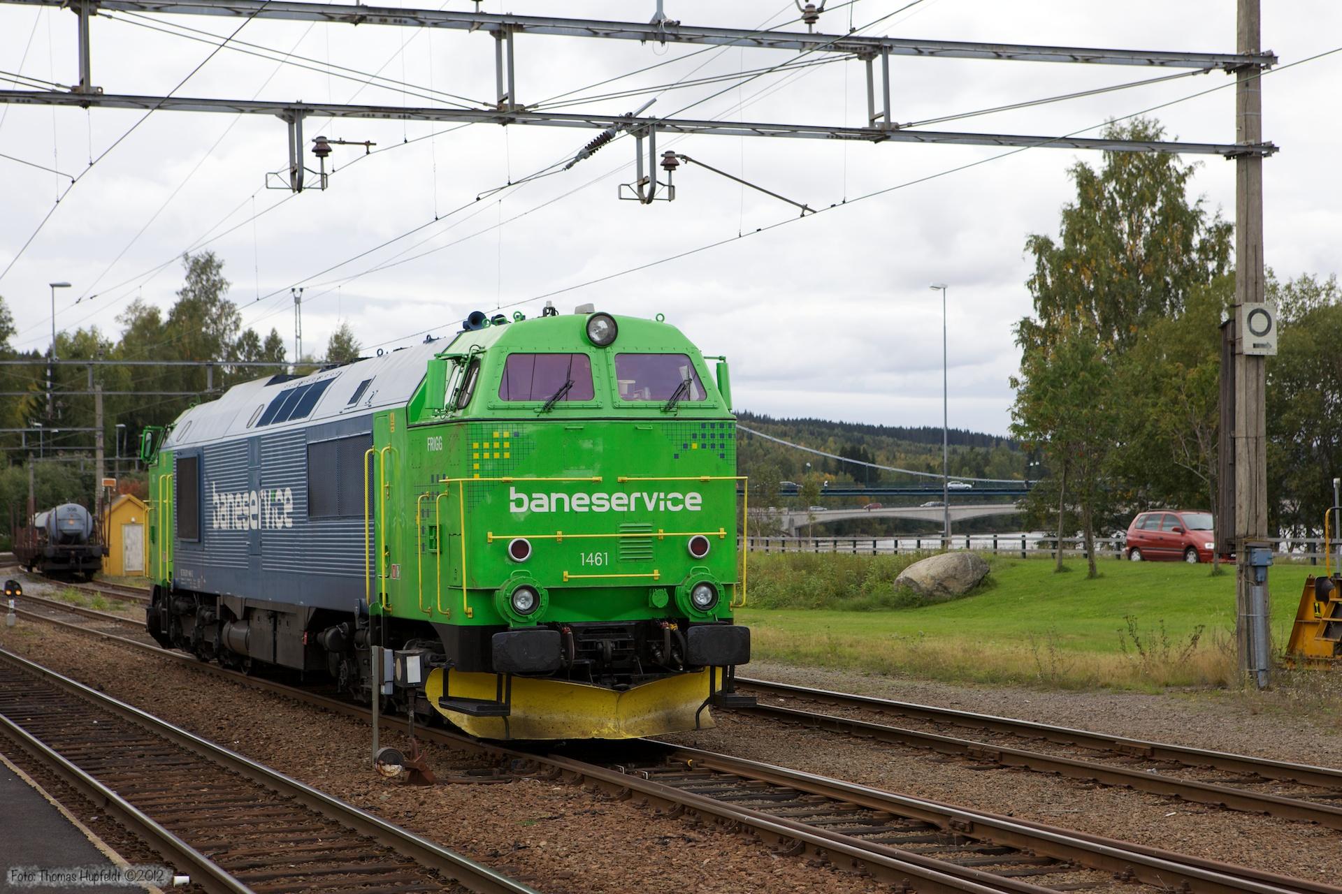 Baneservice TMZ 1461 ved Kongsvinger - 16.09.2010