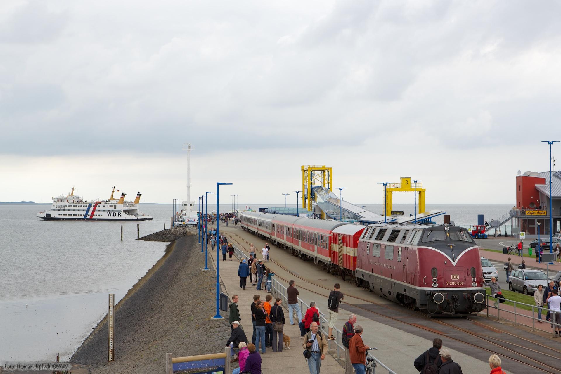 V 200 007 på Dagebüll Mole - 29.07.2012