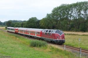 V 200 007 og NEG VT 71 som NEG9 (Niebüll - Dagebüll Mole) mellem Deezbüll og Maasbüll - 29.07.2012
