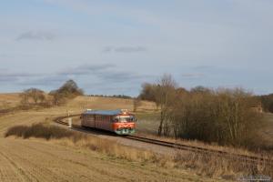 MjbaD Ys 44 + Ym 33 som VP306304 (Mal-Odd) mellem Malling og Assedrup ved km 15. - 02.12.2012